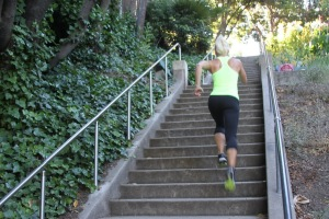 Shane workout at Cleveland Cascade stairs
